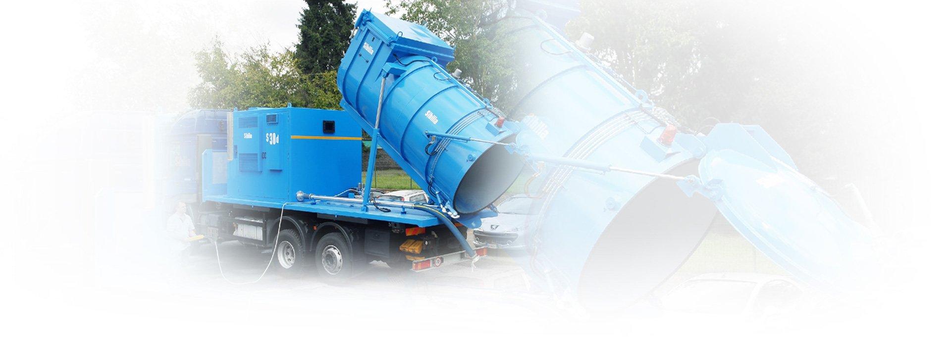 Odkurzacze montowane na podwoziach ciężarowych